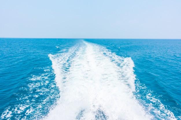 Speedbåd, kølvandsstribe